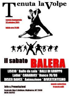 IL SABATO BALERA - 22 ottobre 2011 - Matera