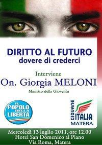 Incontro con il Ministro Giorgia Meloni - Matera