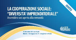 """LA COOPERAZIONE SOCIALE: """"DIVERSITA' IMPRENDITORIALE"""" - 16 dicembre 2011 - Matera"""