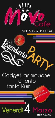 Legendario Party - Movo Cafe - Matera
