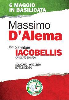 Massimo D'Alema a Scanzano Jonico - 6 maggio 2011 - Matera