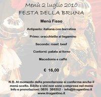 Menù Rugantino, 2Luglio - Matera