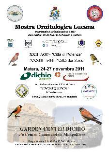 Mostra Ornitologica Lucana - dal 24 al 27 novembre 2011 - Matera