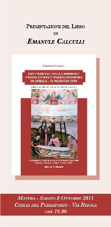 Ostensione della Sindone Passio Christi Passio Hominis - presentazione del libro - Matera