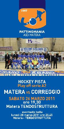 Pattinomania - Matera vs Correggio - 26 marzo 2011 - Matera