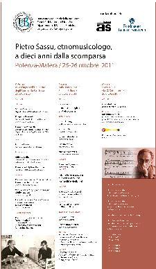 Pietro Sassu, etnomusicologo, a dieci anni dalla scomparsa  - Matera