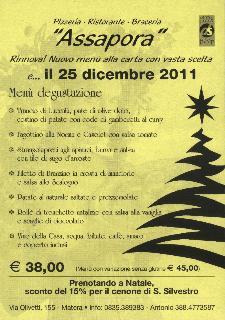 Pranzo di Natale 2011 ad Assapora  - Matera