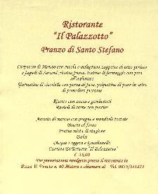 Pranzo di Santo Stefano a Il Palazzotto  - Matera