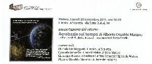 """Presentazione di """"Acrobazie sul tempo"""", un libro di Alberto Marano - Matera"""