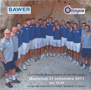 Presentazione ufficiale della squadra Bawer Matera - 21 settembre 2011 - Matera