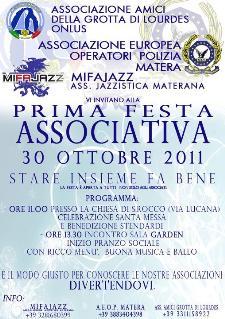 PRIMA FESTA ASSOCIATIVA - 30 ottobre 2011 - Matera