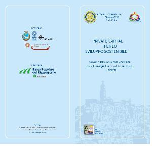 Private capitale per lo sviluppo sostenibile - 29 novembre 2011 - Matera