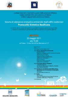Protocollo Sintetico Basilicata - 25 maggio - Matera