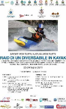 RAID DI UN DIVERSABILE IN KAYAK - 23 e 24 luglio 2011 - Matera