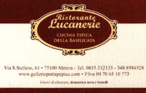 Ristorante Lucanerie - Matera - Matera