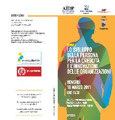 """Seminario """"Lo sviluppo della persona per la crescita e l'innovazione delle organizzazioni"""" - 18 marzo 2011 - Matera"""