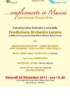 Semplicemente in musica - 30 dicembre 2011 - Matera