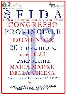 SFIDA - Congresso provinciale - 20 novembre 2011 - Matera