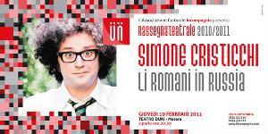"""Simone Cristicchi - """"Li Romani in Russia – racconto di una guerra a millanta mila miglia""""  - Matera"""