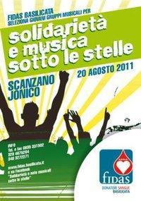 SOLIDARIETA' & NOTE MUSICALI SOTTO LE STELLE - Matera