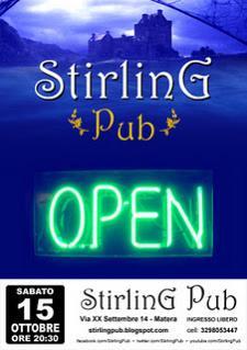 STIRLING PUB RIAPRE  - Matera
