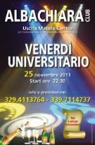 VENERDI' UNIVERSITARIO - Albachiara Club - Matera