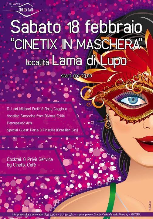 CINETIX IN MASCHERA !