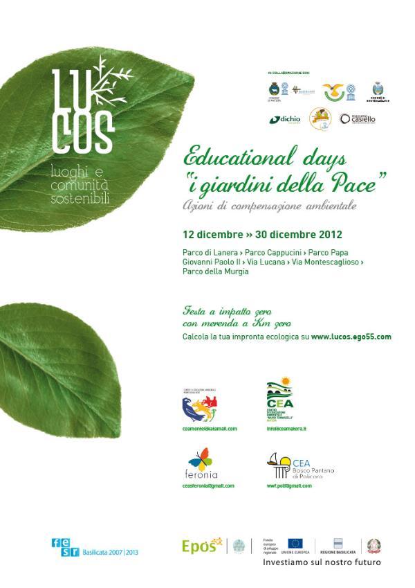 """Educational Days """"I Giardini della Pace"""""""