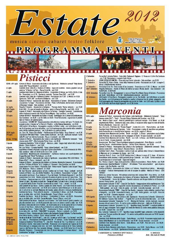 Estate 2012 a Pisticci e Marconia