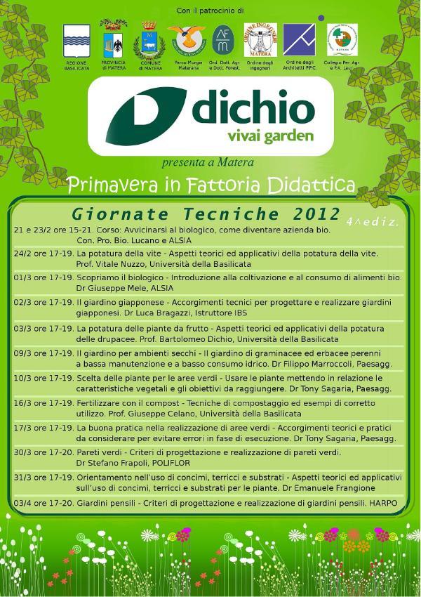 GIORNATE TECNICHE 2012 - DICHIO GARDEN CENTER DI MATERA