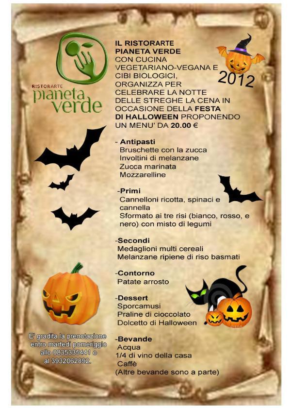 La notte di halloween al ristorante Pianeta Verde