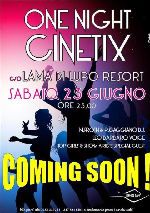 One Night Cinetix - 23 giugno 2012