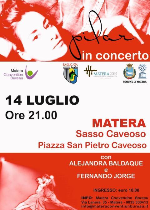 Pilar in concerto a Matera - 14 luglio 2012