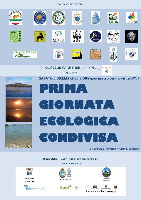 PRIMA GIORNATA ECOLOGICA CONDIVISA - 8 dicembre 2012
