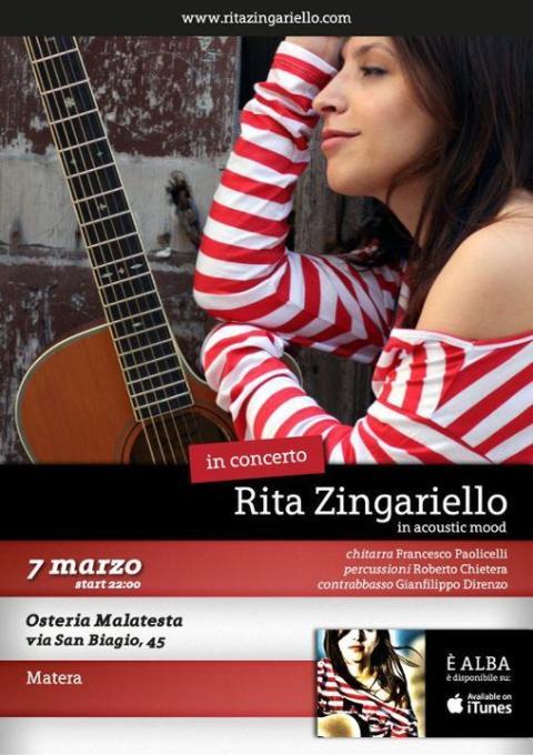 "Rita Zingariello in ""Acoustic Mood"""