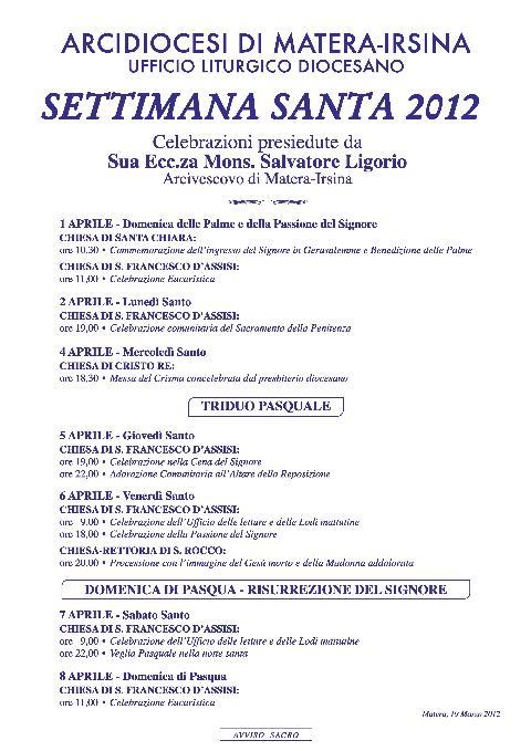 SETTIMANA SANTA 2012