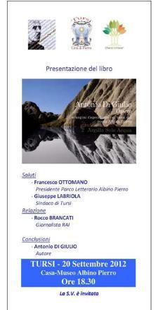 Argilla Sole Acqua - 20 settembre 2012 - Matera