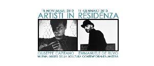 ARTISTI IN RESIDENZA. Giuseppe Capitano - Emmanuele De Ruvo  - Matera