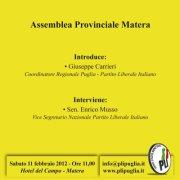 Assemblea provinciale PLI Matera  - Matera