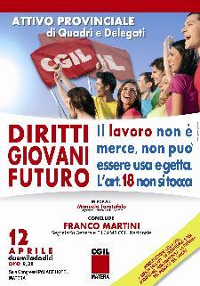 ATTIVO PROVINCIALE CGIL MATERA DI QUADRI E DELEGATI - 12 aprile 2012 - Matera