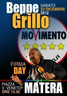 Beppe Grillo a Matera - 22 dicembre 2012 - Matera