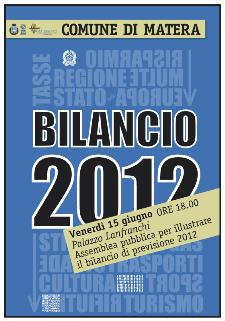 Bilancio 2012  - Matera