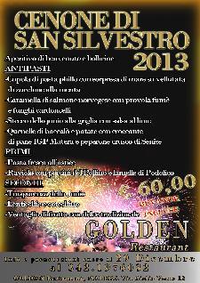 Cenone di San Silvestro 2013 al Golden Restaurant  - Matera