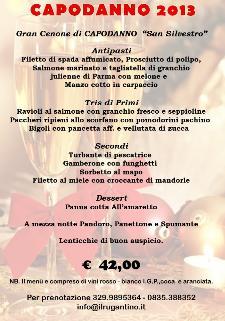 Cenone di San Silvestro al Ristorante Il Rugantino  - Matera