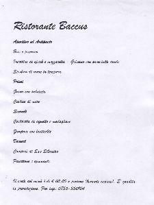 Cenone di San Silvestro al Ristorante Baccus  - Matera