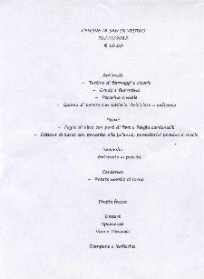 Cenone di San Silvestro alla Trattoria del Caveoso - Capodanno 2013 - Matera