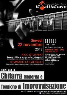 Chitarra Moderna e Tecniche di Improvvisazione - 22 novembre 2012 - Matera