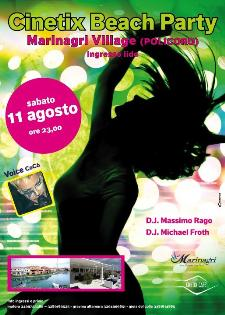 CINETIX BEACH PARTY - 11 agosto 2012 - Matera