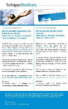 """Concorso di Sviluppo Basilicata nell'ambito dell'iniziativa """"valorizziamo i talenti"""" - Matera"""