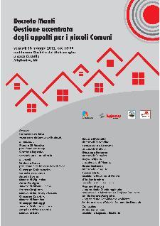 Decreto Monti. Gestione accentrata degli appalti per i piccoli Comuni - 18 maggio 2012 - Matera